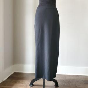 EILEEN FISHER black maxi skirt